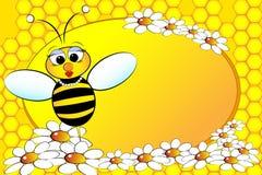 Bienen-Familie: Mamma - Kind-Abbildung Stockfoto