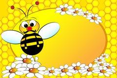 Bienen-Familie: Vati - Kind-Abbildung Lizenzfreie Stockbilder