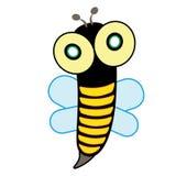 Bienen-Insekten-Geflügelnaturtierikonenkarikaturdesignzusammenfassungs-Illustrationstier Stockbilder