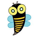 Bienen-Insekten-Geflügelnaturtierikonenkarikaturdesignzusammenfassungs-Illustrationstier Lizenzfreie Stockfotografie