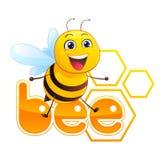 Bienen-Maskottchen Lizenzfreies Stockfoto