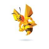 Bienen-Maskottchen-Design Lizenzfreie Stockfotos