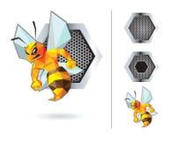 Bienen-Maskottchen-Design Stockfotos