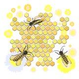 Bienen montieren Honig Der Tanz lizenzfreie abbildung