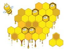 Bienen und Bienenwaben Vektor Abbildung