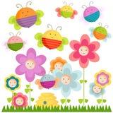 Bienen und Blumen Lizenzfreie Stockfotografie