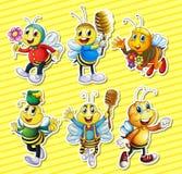 Bienen und Honigsatz vektor abbildung