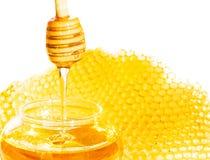Bienenbienenwabe Stockfotografie