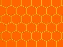 Bienenbienenwabehintergrund Lizenzfreie Stockfotos