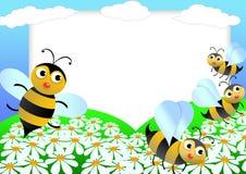 Bieneneinklebebuch Stockbilder
