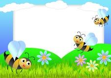 Bieneneinklebebuch Stockfoto