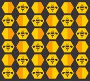 Bienenhintergrund Stockfoto