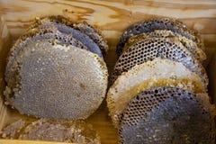 Bienenhonig und natürliches Wachs lizenzfreie stockfotos