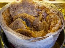 Bienenhonig und natürliches Wachs stockbild