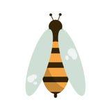 Bienenhoniginsekten-Insektenikone vektor abbildung
