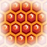 Bienenhonigzellen. Hintergrund 2. Lizenzfreie Stockfotografie
