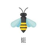 Bienenikone in der flachen Art Stockfotografie