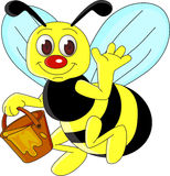 Bienenkarikatur Lizenzfreie Stockfotos