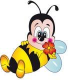 Bienenkarikatur stock abbildung
