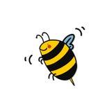 Bienenkarikatur Lizenzfreies Stockfoto