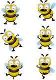 Bienenkarikaturansammlung Stockbild
