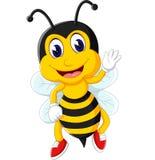 Bienenkarikaturfliegen Lizenzfreies Stockbild