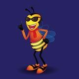 Bienenmaskottchen Lizenzfreies Stockfoto