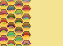 Bienennest geometrict Mathehintergrund Stockfotos
