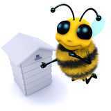 Bienenstock der Biene 3d stock abbildung