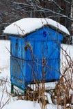 Bienenstock im Winter. stockfotografie