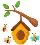 Bienenstockniederlassung Stockbild