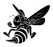 Bienentätowierung stock abbildung