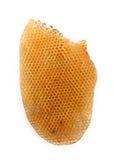 Bienenwabe auf weißem Hintergrund lizenzfreie stockbilder