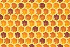 Bienenwabe-nahtloses Muster Lizenzfreie Stockfotos