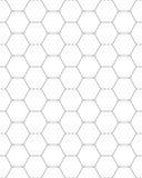 Bienenwabe-nahtloses Muster Stockfoto