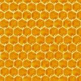 Bienenwabe-nahtloses Muster Stockbilder