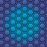 Bienenwabe-nahtloses Muster Auch im corel abgehobenen Betrag Lizenzfreie Stockfotografie