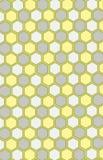 Bienenwabe-nahtloses Muster Farben: grau, gelb, weiß Lizenzfreies Stockfoto
