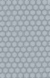 Bienenwabe-nahtloses Muster Schwarzes und Grau Lizenzfreies Stockbild