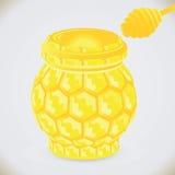 Bienenwabeglas Lizenzfreies Stockfoto