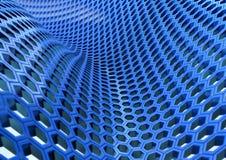 Bienenwaben-Blau Lizenzfreie Stockfotografie