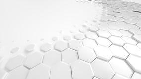 Bienenwaben-weiße Hintergrund-Technologie lizenzfreie abbildung