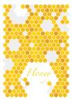 Bienenwabenvektor backgraund Stockbilder