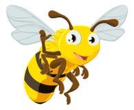 Bienenzeichentrickfilm-figur Lizenzfreie Stockbilder