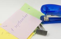 Bientôt 1er septembre Photos stock
