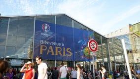 Bienvenida una París, recepción a París almacen de video