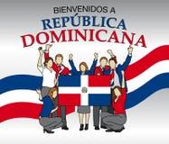 Bienvenidos le Republica Dominicana - accueil vers la République Dominicaine dans la langue espagnole illustration de vecteur