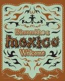 Bienvenidos a Mexico - Welcome to Mexico Spanish Royalty Free Stock Photos