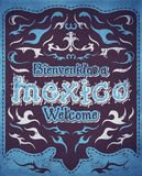 Bienvenidos a Mexico - Welcome to Mexico Spanish text Royalty Free Stock Image
