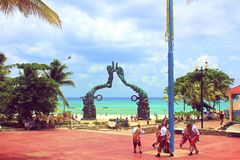 Bienvenidos um Maya de Riviera do la fotografia de stock